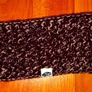 VANS off the wall Acrylic headband maroon/white